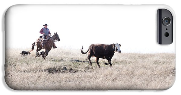 Working Cowboy Photographs iPhone Cases - Round Up iPhone Case by Cindy Singleton