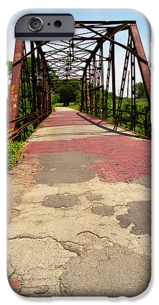 Recently Sold -  - Asphalt iPhone Cases - Route 66 - One Lane Bridge iPhone Case by Frank Romeo