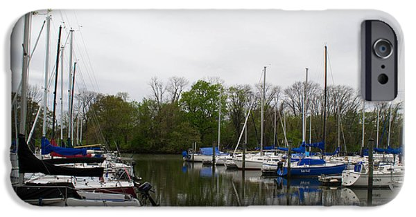 Washingtondc iPhone Cases - Sailboats of the Potomac River iPhone Case by Debra Bowers