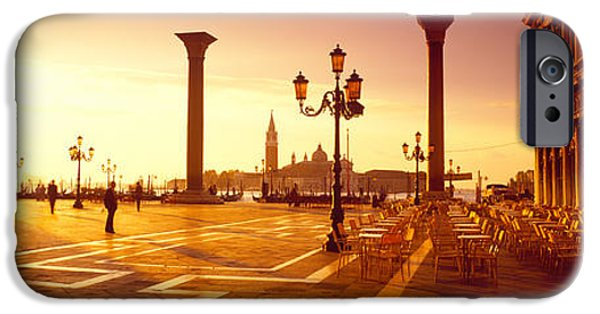 Piazza San Marco iPhone Cases - Saint Mark Square, Venice, Italy iPhone Case by Panoramic Images
