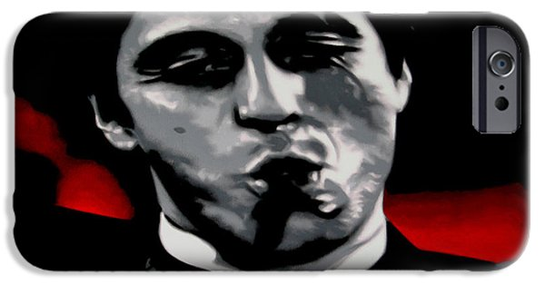 Ludzska iPhone Cases - Scarface 2013 iPhone Case by Luis Ludzska