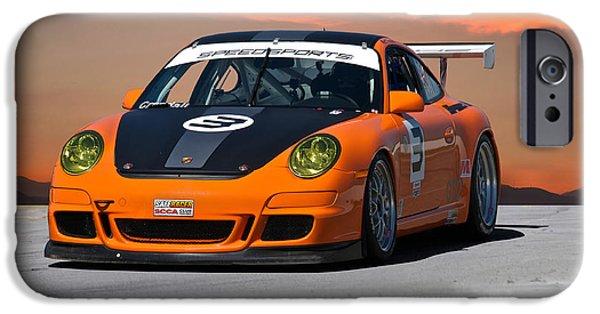 Circuit iPhone Cases - SCCA Porsche GT2 iPhone Case by Dave Koontz