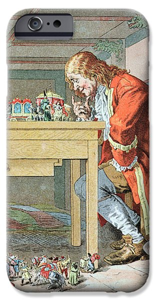 Childrens Books iPhone Cases - Scene from Gullivers Travels iPhone Case by Frederic Lix