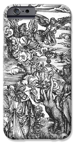 Posters From iPhone Cases - Scene from the Apocalypse iPhone Case by Albrecht Durer or Duerer