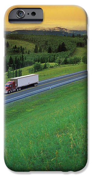 Semi-trailer Truck iPhone Case by Don Hammond