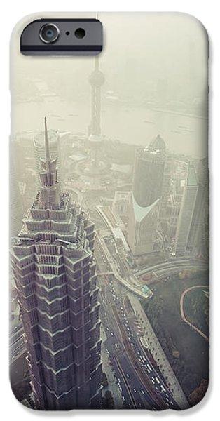 Shanghai Pudong skyline iPhone Case by Fototrav Print