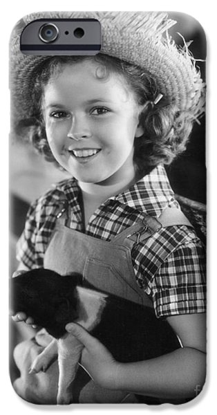 Movie Scene iPhone Cases - Shirley Temple iPhone Case by MMG Archive Prints