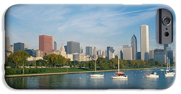 Chicago iPhone Cases - Skyscrapers In A City, Chicago iPhone Case by Panoramic Images