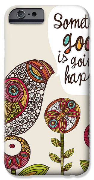 Floral Digital Art Digital Art iPhone Cases - Something good is going to happen iPhone Case by Valentina Ramos