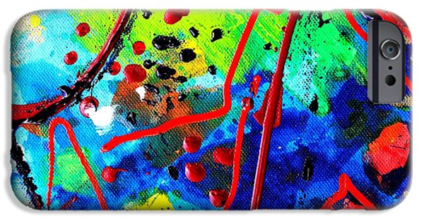 Fine Art Abstract iPhone Cases - Somewhere Over The Rainbow  II    cropped version  iPhone Case by John  Nolan