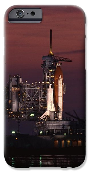 Blast iPhone Cases - Space Shuttle Challenger  iPhone Case by Retro Images Archive