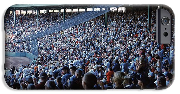 Fenway Park Photographs iPhone Cases - Spectators Watching A Baseball Match iPhone Case by Panoramic Images