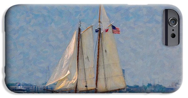 Tall Ship Mixed Media iPhone Cases - Spirit of SC iPhone Case by Dale Powell