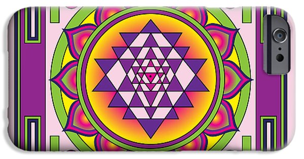 Recently Sold -  - Buddhism iPhone Cases - Sri Yantra Mandala iPhone Case by Galactic  Mantra