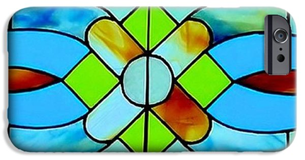 Print Glass iPhone Cases - Stained Glass Window iPhone Case by Janette Boyd