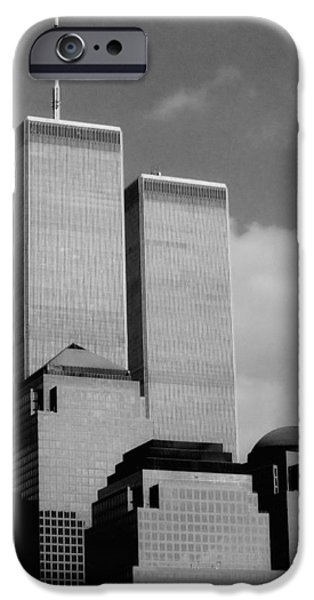 Twin Towers Nyc iPhone Cases - Standing Tall iPhone Case by Joann Vitali