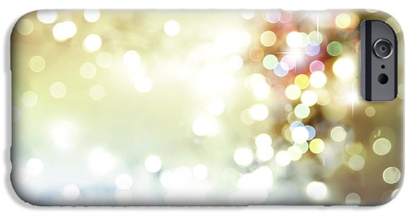 Twinkle iPhone Cases - Starry background iPhone Case by Les Cunliffe