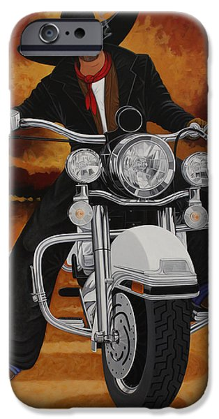 Sedona Paintings iPhone Cases - Steel Pony iPhone Case by Lance Headlee