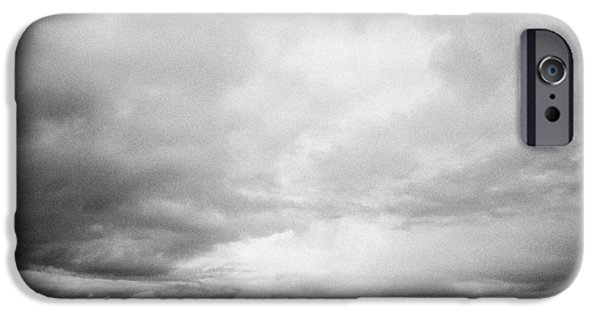 Winter Storm iPhone Cases - storm snow clouds forming over the prairies assiniboia Saskatchewan Canada iPhone Case by Joe Fox