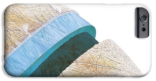 Galilean Moon iPhone Cases - Structure Of Europa, Artwork iPhone Case by Gary Hincks