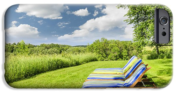 Lawn Chair iPhone Cases - Summer relaxing iPhone Case by Elena Elisseeva