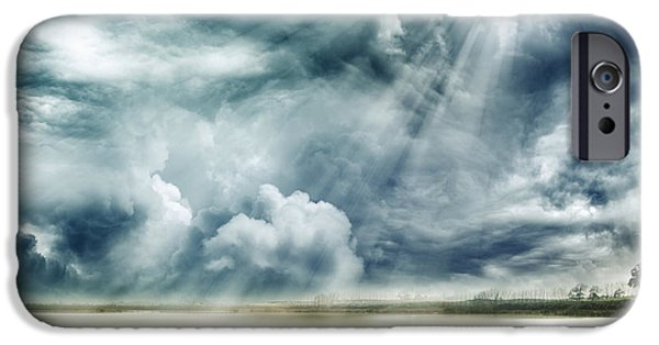 Religious iPhone Cases - Sunlight iPhone Case by Les Cunliffe