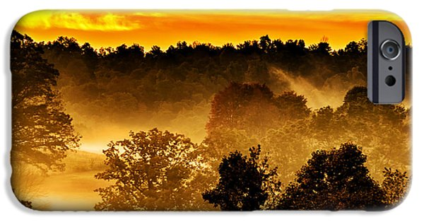 Colorful Cloud Formations iPhone Cases - Sunrise and Fog iPhone Case by Thomas R Fletcher