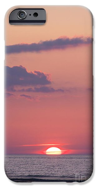 Wadden Sea iPhone Cases - Sunset iPhone Case by Angela Doelling AD DESIGN Photo and PhotoArt