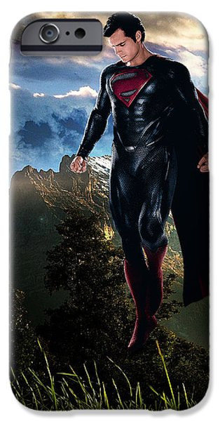 Superman iPhone Case by Marvin Blaine