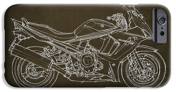 Suzuki iPhone Cases - Suzuki GSX 650F 2011 iPhone Case by Pablo Franchi