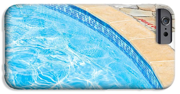 Activity iPhone Cases - Swimming pool iPhone Case by Tom Gowanlock
