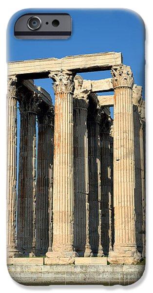 Zeus iPhone Cases - Temple of Olympian Zeus in Athens iPhone Case by George Atsametakis