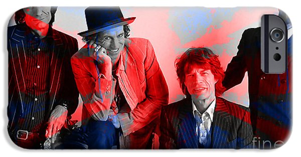 Rolling Stones iPhone Cases - The Rolling Stones iPhone Case by Marvin Blaine