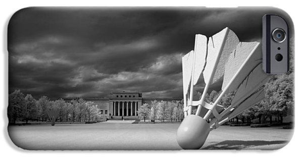 Outdoors Sculptures iPhone Cases - The Shuttlecock iPhone Case by Mountain Dreams
