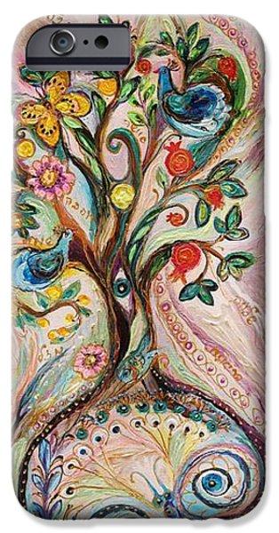 Tree Art Print iPhone Cases - The Tree of Life iPhone Case by Elena Kotliarker