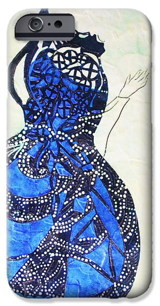 Contemporary Art Ceramics iPhone Cases - The Wise Virgin iPhone Case by Gloria Ssali
