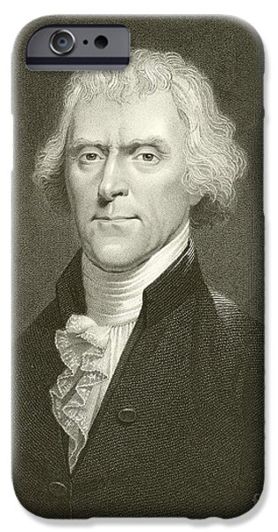 Politician iPhone Cases - Thomas Jefferson iPhone Case by English School