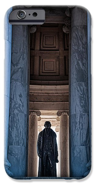 President iPhone Cases - Thomas Jefferson memorial iPhone Case by Celso Diniz