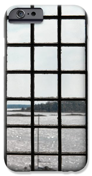 Historic Home iPhone Cases - Through an Old Window iPhone Case by Olivier Le Queinec
