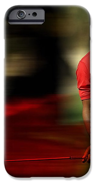 Tiger Woods iPhone Case by Marvin Blaine