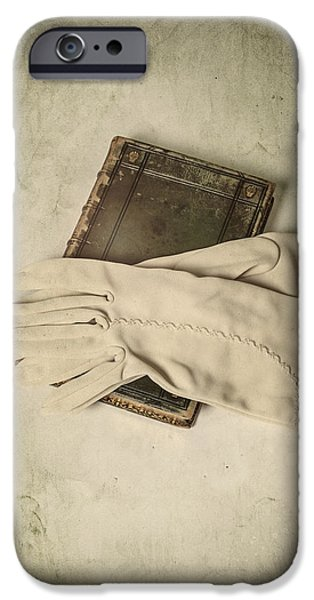 White Glove iPhone Cases - Time To Read iPhone Case by Joana Kruse