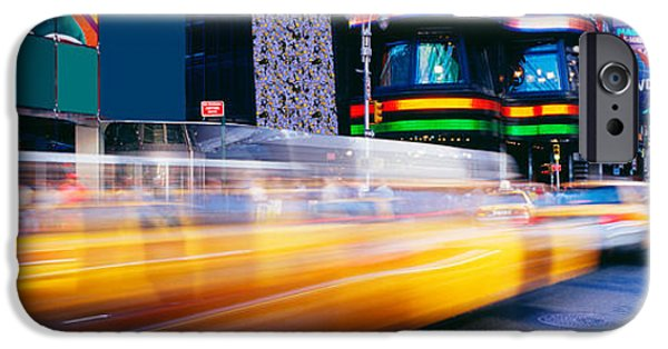 Crosswalk iPhone Cases - Times Square, Nyc, New York City, New iPhone Case by Panoramic Images