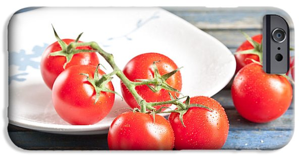 Crops iPhone Cases - Tomatoes iPhone Case by Tom Gowanlock