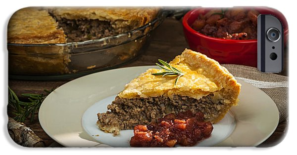 Beef iPhone Cases - Tourtiere meat pie iPhone Case by Elena Elisseeva