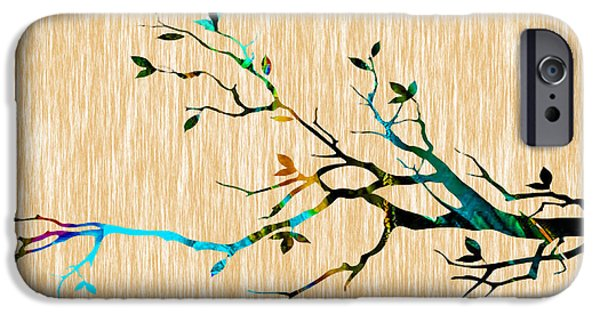 Backgrounds iPhone Cases - Tree Branch iPhone Case by Marvin Blaine