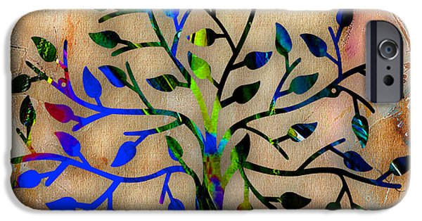 Branch iPhone Cases - Tree Of Life Painting iPhone Case by Marvin Blaine