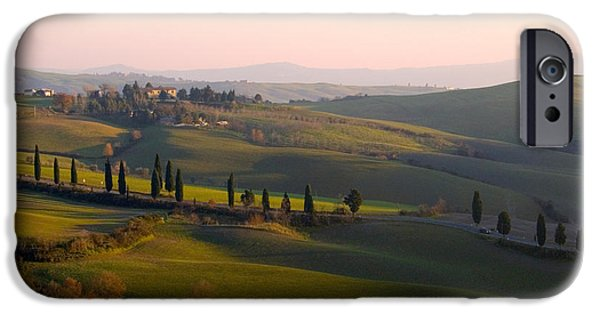 Tuscan Road iPhone Cases - Tuscan Countryside iPhone Case by Tim Holt