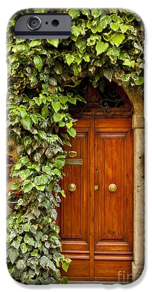Wooden Door iPhone Cases - Tuscan Door iPhone Case by Brian Jannsen