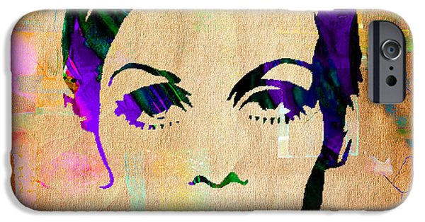 Twiggy iPhone Cases - Twiggy Collection iPhone Case by Marvin Blaine