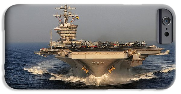Recently Sold -  - Power iPhone Cases - USS Dwight D. Eisenhower iPhone Case by Mountain Dreams